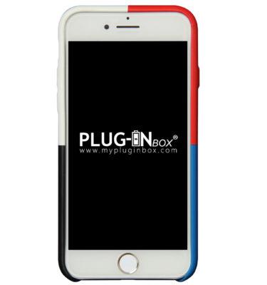 Plug-in Box | Cover per iPhone in eco-pelle antiscivolo e antiurto