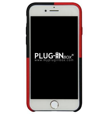 Plug-in Box | Cover per iPhone effetto pelle antiscivolo