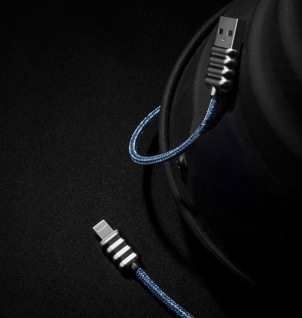 Cavo USB Glitter blue 2