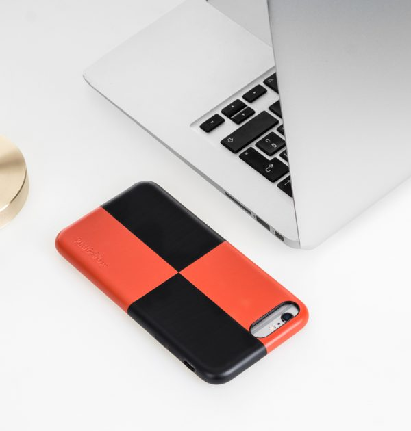 Iphone case Mondrian red and black 3