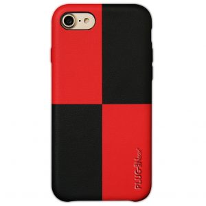 Iphone case Mondrian red and black